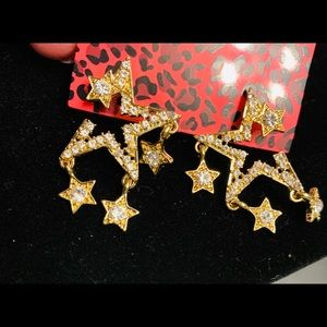 Betsey Johnson star earrings